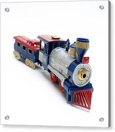 Locomotive Toy Acrylic Print by Bernard Jaubert