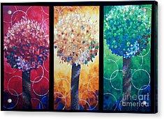 Lollipop Trees Acrylic Print