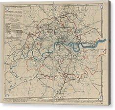 London Acrylic Print by British Library