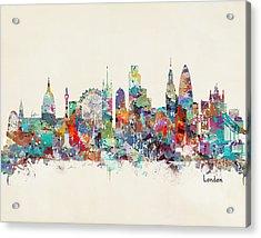 London City Skyline Acrylic Print by Bri B
