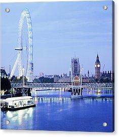 London Eye Acrylic Print by Mark Thomas/science Photo Library