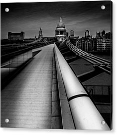 London St.paul's Cathedral Acrylic Print by S J Bryant