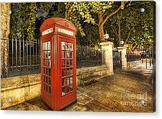 London Telephone Booth Acrylic Print