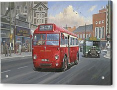 London Transport Q Type. Acrylic Print by Mike  Jeffries