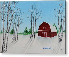 Lonely Barn Acrylic Print