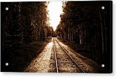 Lonely Railway Acrylic Print