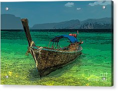 Longboat Acrylic Print by Adrian Evans