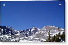Longs Peak And Blue Sky Acrylic Print