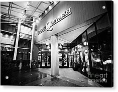 lonsdale quay market shopping mall north Vancouver BC Canada Acrylic Print by Joe Fox