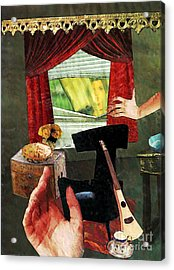 Looking In Acrylic Print by Sarah Loft