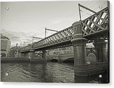 Loopline Bridge Dublin Ireland Acrylic Print by Betsy Knapp