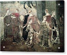 Lorenzetti, Ambrogio 1285-1348 Acrylic Print by Everett