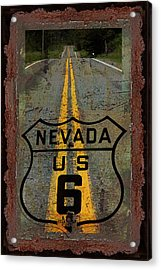 Lost Highway Acrylic Print by John Stephens