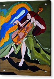 Lost In Music Acrylic Print