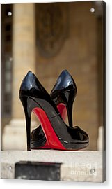 Louboutin Heels Acrylic Print by Brian Jannsen