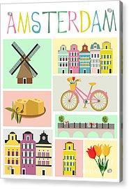 Love Amsterdam Acrylic Print