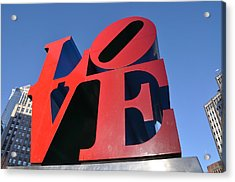 Love Acrylic Print by Bill Cannon