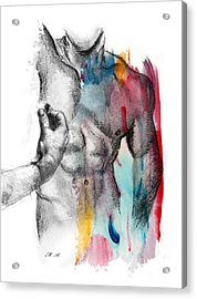 Love Colors 5 Acrylic Print by Mark Ashkenazi