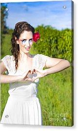 Love Heart Sign Acrylic Print by Jorgo Photography - Wall Art Gallery