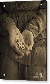Love Letters Acrylic Print by Edward Fielding