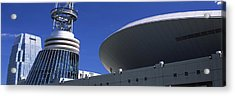 Low Angle View Of Bridgestone Arena Acrylic Print by Panoramic Images