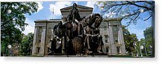 Low Angle View Of Statue Acrylic Print