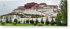 Low Angle View Of The Potala Palace Acrylic Print by Panoramic Images