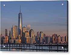 Lower Manhattan Skyline Acrylic Print by Susan Candelario