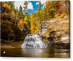 Lower Treman Falls Acrylic Print
