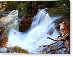 Acrylic Print featuring the photograph Lower Virginia Cascades by Aaron Whittemore