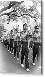 Lsu Marching Band Vignette Acrylic Print by Steve Harrington