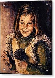 Acrylic Print featuring the painting Luisa Fernanda by Walter Casaravilla