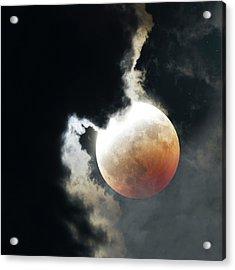 Lunar Eclipse Acrylic Print by Detlev Van Ravenswaay