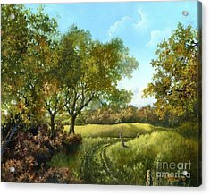 Acrylic Print featuring the painting Luray Pasture by Lynne Wright
