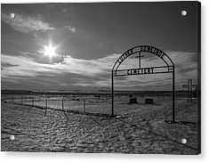 Luther Gemeinde Cemetery Acrylic Print by Chad Rowe
