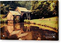 Mabrys Mill Acrylic Print by Darren Fisher