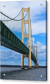 Mackinac Bridge Acrylic Print by Cindy Lindow