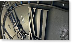 Macro Antique Clock Midnight Acrylic Print
