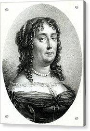 Madeleine De Scudery  French Writer Acrylic Print by Mary Evans Picture Library