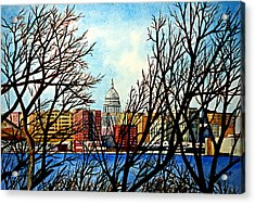Madison Treed Acrylic Print by Thomas Kuchenbecker