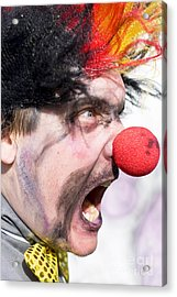 Madness The Clown Acrylic Print by Jorgo Photography - Wall Art Gallery