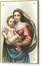 Madonna And Child Acrylic Print by Gary Grayson