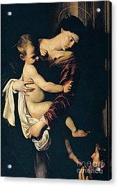 Madonna Di Loreto Acrylic Print by Caravaggio
