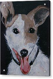 Acrylic Print featuring the painting Maggie by Leslie Manley