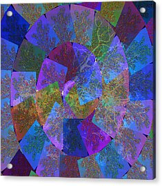 Magic Marbles Marvellous Colorful Pattern Spiral Sparkle Wonderland Kidsroom School Nursary Daycare  Acrylic Print