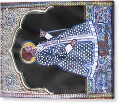 Acrylic Print featuring the painting Maharaja Jai Singh by Vikram Singh