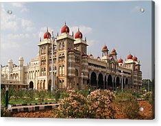 Maharaja's Palace And Garden India Mysore Acrylic Print