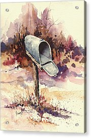 Mailbox Acrylic Print by Sam Sidders
