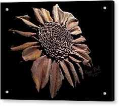 Mailbox Sunflower Acrylic Print