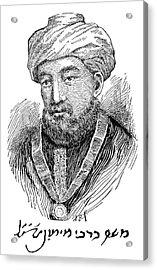 Maimonides (1135-1204) Acrylic Print by Granger